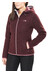 The North Face Zermatt Full Zip Hoodie Women Deep Garnet Red White Heather